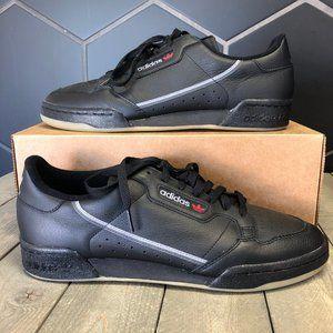 New Adidas Continental 80 Black Gum Size 12